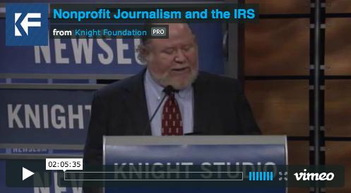 Nonprofit Journalism announcement